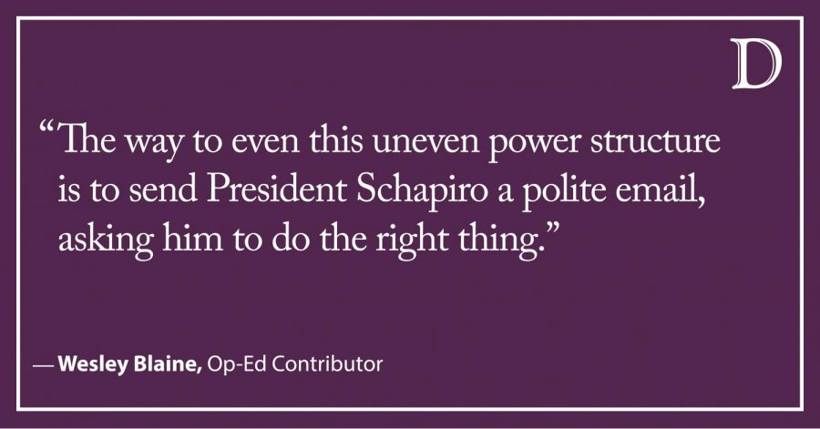 The reason President Schapiro should refund 10 percent of your Spring tuition