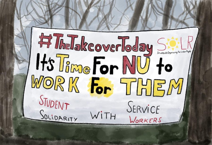 The University announced plans to pay dining workers. But SOLR said the workers haven't received compensation yet.