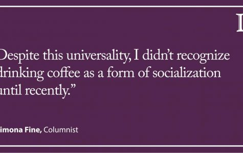 Fine: Drinking coffee is a social activity