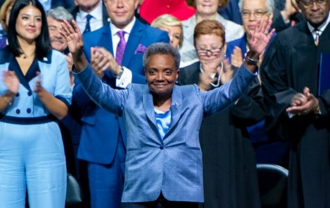 Chicago Mayor Lori Lightfoot at last May's inauguration. Lightfoot was chosen as this year's commencement speaker for graduation, which has been moved online due to the COVID-19 pandemic.
