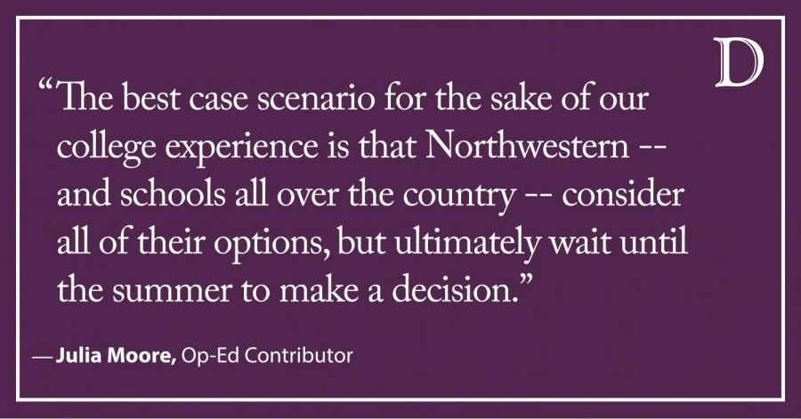 Moore: Postpone Fall Quarter if needed, just don't take away more time on campus
