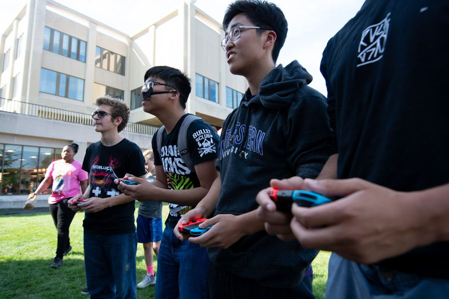 Gamers have fun at the Nintendo Switch: Together Tour kickoff. NU Recreation sent out an interest form last week for students interested in playing eSports, a form of competitive online gaming.