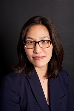 Soo La Kim. Kim will join the Evanston/Skokie District 65 school board at its April 27 board meeting.