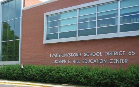 The Evanston/Skokie District 65 Education Center, at 1500 McDaniel Avenue.