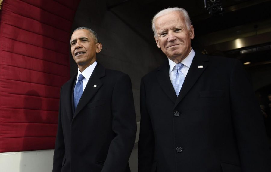 Former U.S. President Barack Obama and former Vice President Joe Biden arrive for the Presidential Inauguration of Donald Trump on January 20, 2017. Political Union discussed the impact of coronavirus on Biden, the presumptive Democratic nominee, and his chances to beat Trump, the incumbent president, in the general election.