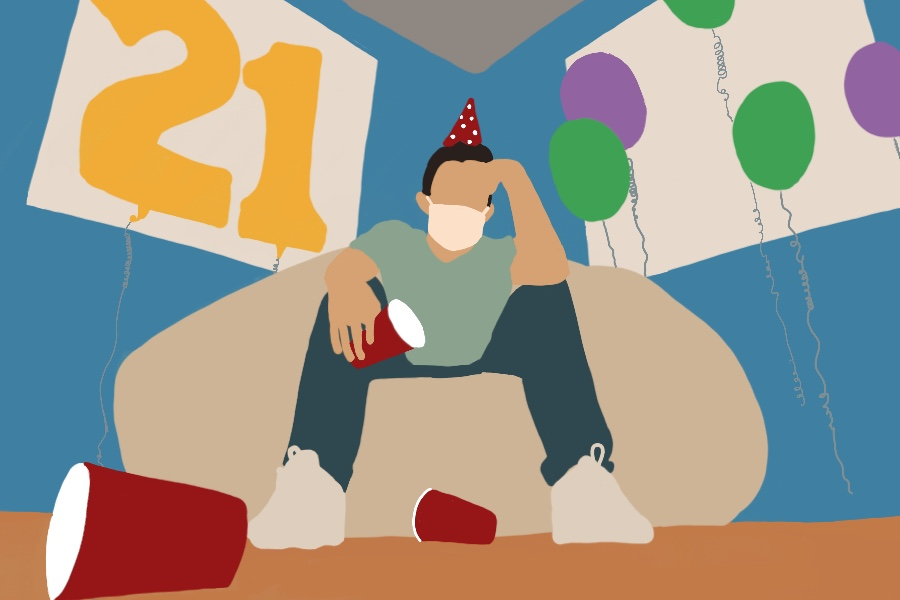 Students found new ways to celebrate their 21st birthday during the pandemic. Some drank with their friends online, while others played games and baked with their families to celebrate the milestone birthday.