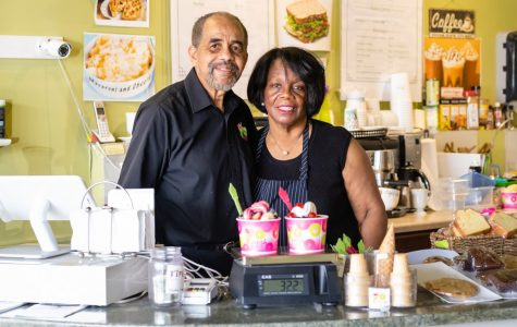 Larry and Jean Murphy at YoFresh Yogurt Cafe. The couple opened YoFresh over five-and-a-half years ago and have since built community both within and beyond the cafe.