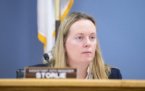 Erika Storlie. City Council proposed Storlie as a candidate for the city manager position.