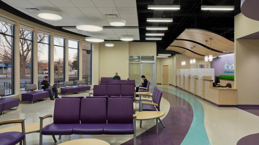 Inside+the+Erie+Evanston%2FSkokie+Health+Center.+The+city%E2%80%99s+third+testing+site+is+at+a+health+center+with+predominantly+low-income+patients.
