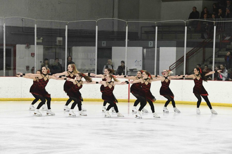 The Purple Line at the Synchro Illinois competition in January. Their competitive season was later halted due to COVID-19.