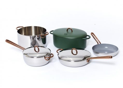 """Sierra Tishgart (Medill '12) was inspired to found Great Jones after finding the process of purchasing cookware to be expensive and overwhelming. Great Jones' Dutch oven, called """"The Dutchess,"""" is a staple in the collection."""