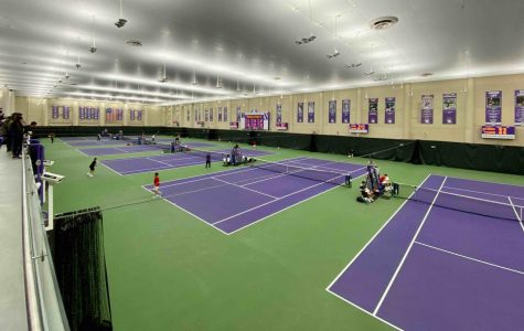 Combe Tennis Center, the home court of Northwestern women's tennis. Due to the COVID-19 pandemic, the Wildcats' final five home matches were canceled.