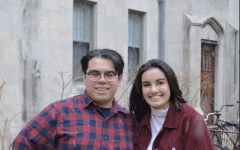 Katherine Conte and Juan Zuniga. The two were sworn in Wednesday as ASG president and vice president.