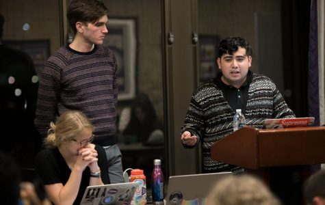 SESP sophomore Daniel Rodriguez speaks during a previous ASG meeting. The Executive Officer of Justice and Inclusion co-authored a bill creating a COVID-19 response task force within ASG.