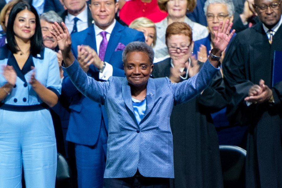 Chicago+Mayor+Lori+Lightfoot+at+last+May%E2%80%99s+inauguration.+More+than+800+students+have+signed+a+letter+calling+on+the+University+to+disinvite+Chicago+Mayor+Lori+Lightfoot+from+speaking+at+commencement.
