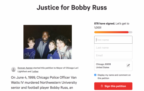 The Justice for Bobby Russ petition page. Russ was shot and killed by a police officer on June 4, 1999, while driving to visit his mother. He would've graduated later that month.