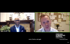 Medill Dean Charles Whitaker interviews 60 Minutes correspondent John Dickerson as part of the Chicago Humanities Festival on June 24, 2020. Dickerson discussed his new book on the role of the United States president.