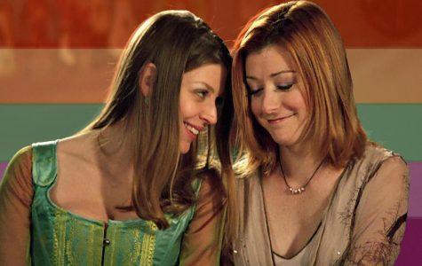 "Willow and Tara in ""Buffy the Vampire Slayer."""