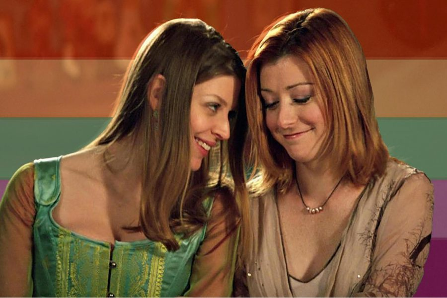 "Willow and Tara in ""Buffy the Vampire Slayer."""