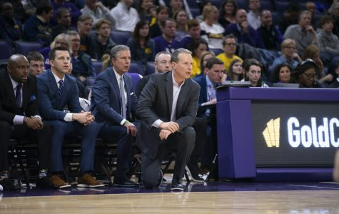 Northwestern's coaches watch from the sideline. Saturday, they received a commitment from four-star forward Casey Simmons.