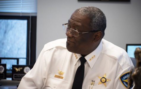 Police Chief Demitrous Cook. Cook outlined Evanston Police Department's practices in terms of 8 Can't Wait during Hagerty's discussion on Monday.