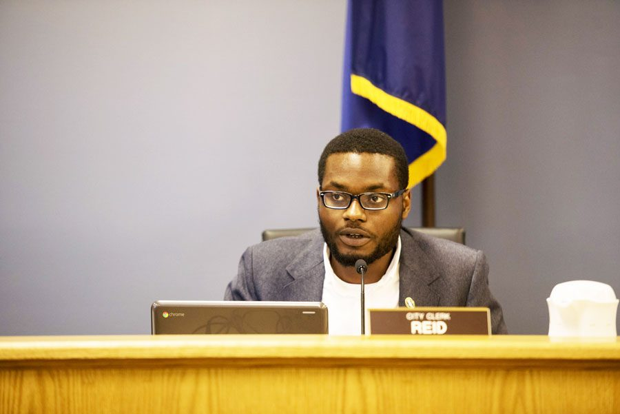 City Clerk Devon Reid. Reid's decision to hire a long-time summer intern despite a hiring freeze led to complaints from aldermen at Monday's council meeting.