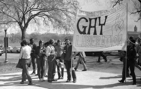 In 1970, the Gay Liberation Front sent a contingent to march on Washington in protest of the Vietnam War.