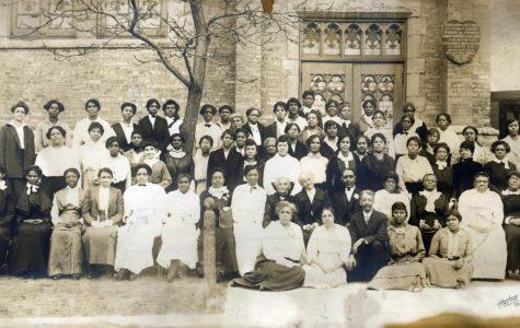 Members of the Sunday School at Ebenezer AME, Evanston's first black church, circa 1920.