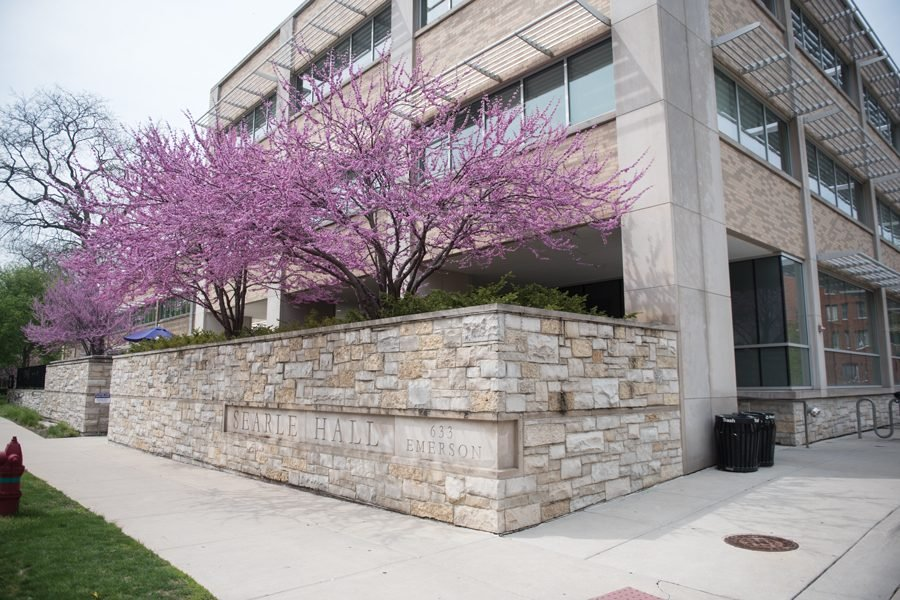 Searle Hall, the location of Northwestern University Health Service. NUHS will be one of two on-campus testing sites for students in Evanston this fall.