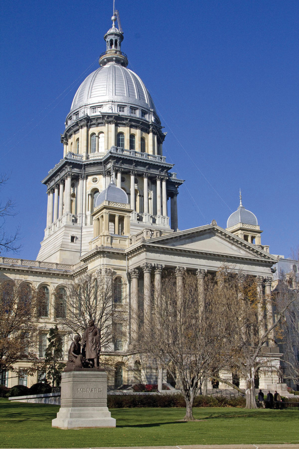 The+capitol+building+in+Springfield.+House+Bill+4954+passed+before+the+Illinois+House+Committee+in+March+with+14+in+favor+and+7+opposed.