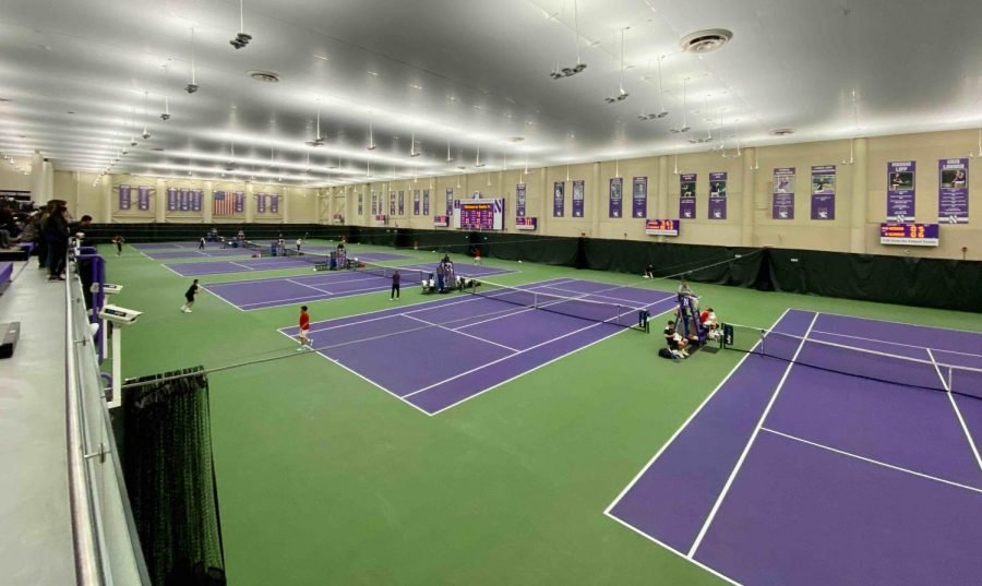 Combe Tennis Center, home to the Northwestern women's tennis program. The team's previous season was cut short due to COVID-19.