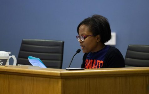 Ald. Cicely Fleming (9th). Fleming spoke in favor of reducing property task increases at Monday's City Council meeting.