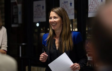 State Rep. Jennifer Gong-Gershowitz (D-Glenview) delivers a speech at a campaign event last September. The first-year state congresswoman is calling on House Speaker Michael Madigan (D-Chicago) to resign from his leadership positions.