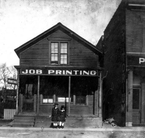 1619 Sherman Avenue, the former location of a barbershop and later a print shop run by William Twiggs.