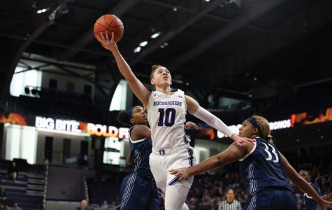 Lindsey Pulliam takes a layup. The senior guard will be a key part of Northwestern's quest for its second-straight Big Ten title.
