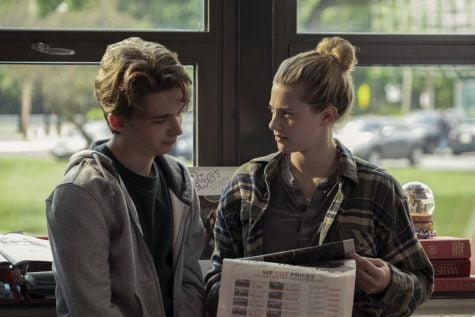 """Austin Abrams (left) and Lili Reinhart (right) star in Amazon Prime's """"Chemical Hearts,"""" a movie that centers on an unrequited love between high school seniors Henry Page and Grace Towns."""