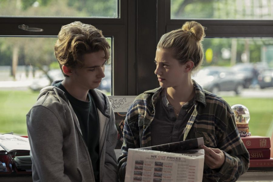 "Austin Abrams (left) and Lili Reinhart (right) star in Amazon Prime's ""Chemical Hearts,"" a movie that centers on an unrequited love between high school seniors Henry Page and Grace Towns."