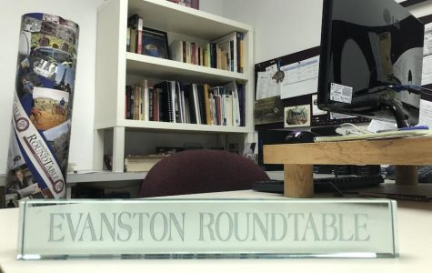 An empty office at the Evanston RoundTable, 1124 Florence Ave., Suite 3. The Evanston RoundTable transitioned to a non-profit in hopes of ensuring its legacy financially.