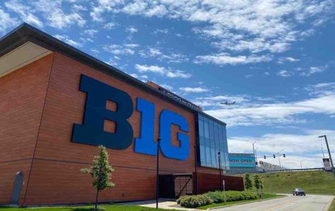 The Big Ten headquarters in Rosemont. The conference will begin a nine-game football season in late October.