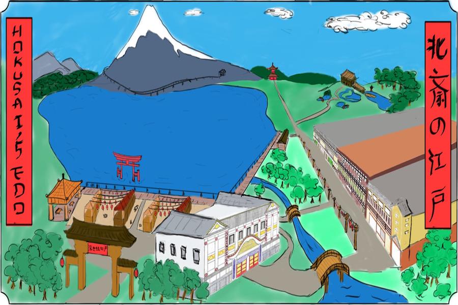 Hokusai%E2%80%99s+Edo%2C+designed+by+TPED+for+The+Ohio+State+University+TPEG+Community+Theme+Park+Design+Competition.
