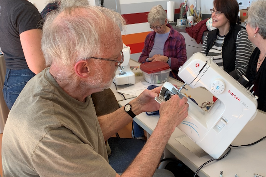 A February meeting of the Evanston Repair Clinic, where volunteers show people how to fix their broken belongings. Right to Repair advocates want to make it easier for people to do their own repairs.