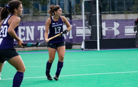 Lily Gandhi (13) stares down the opposing team. The senior concluded her Northwestern career by scoring a goal on Senior Day in the Wildcats' 6-0 win over Indiana last year — in one of the more memorable games of the fall.