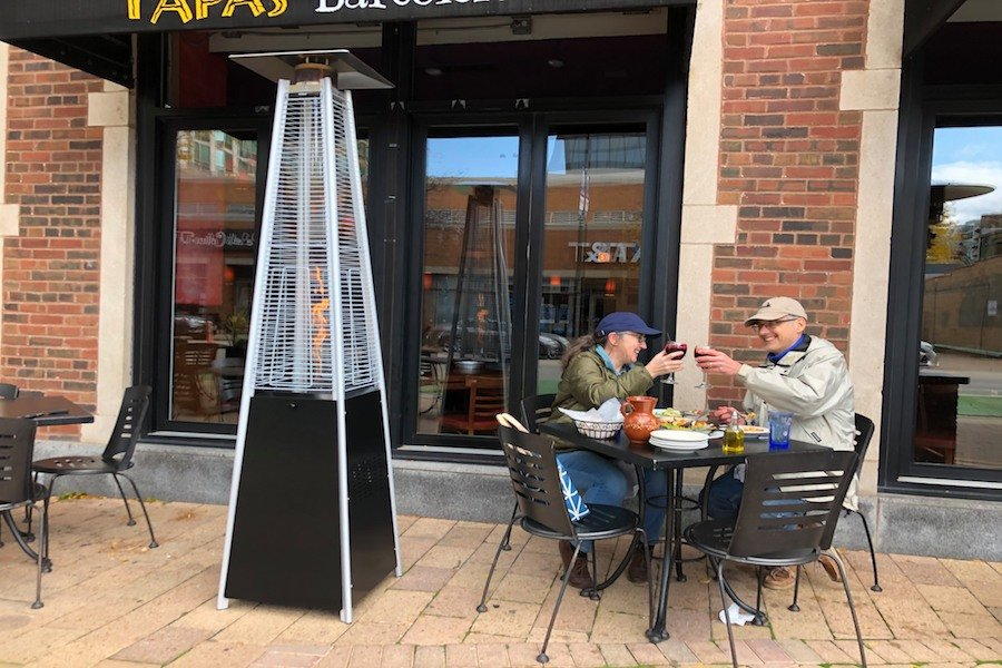 Tapas Barcelona plans to seat customers outside this fall and winter. It purchased a number of heat lamps to keep patrons warm.