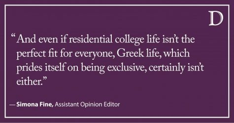 Fine: Abolish Greek life. Expand the residential college system.