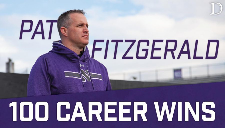 Football: Pat Fitzgerald earns career win No. 100 in victory over Maryland