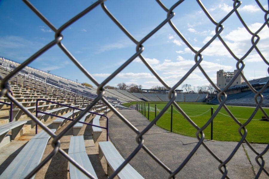 Ryan Field through the fence