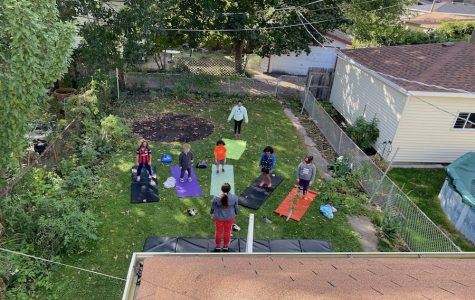 Circus pod classes are often hosted in one of the participating families' backyards. Photo courtesy of Beth Tipton