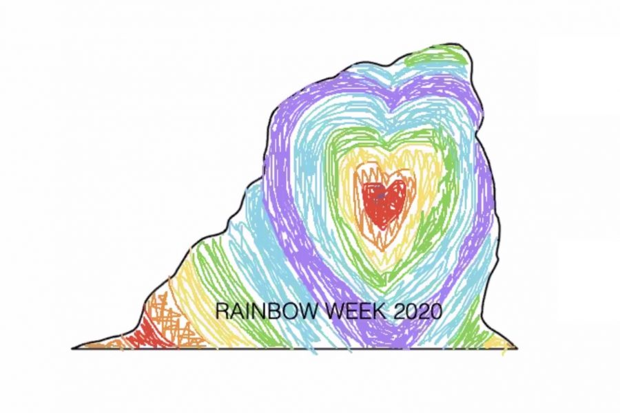 Virtual painting of the Rock. Rainbow Alliance and MSA held a virtual coloring of the Rock as a way to continue the annual tradition.