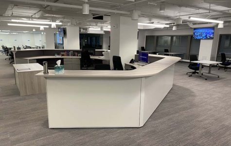 The Medill Newsroom in Washington, D.C., stands empty. The program was recently postponed to the 2021-22 academic year due to COVID-19.