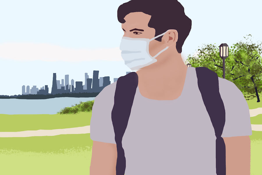 In accordance with CDC guidelines and state-wide requirements, Northwestern requires masks to be worn in public spaces on campus.